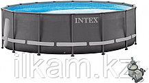 Круглый каркасный бассейн, Ultra XTR Frame Pool, Intex 26326NP, 26326, размер 488х122 см, фото 3