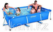 "Прямоугольный каркасный бассейн Intex 28271NP, 28271 (56403) ""Rectangular Frame Pool"", размер 260х160х65 см, фото 3"