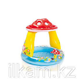 """Детский надувной бассейн Intex 57114, """"Грибок"""" с надувным дном, размер 102х89 см, фото 2"""