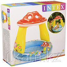 """Детский надувной бассейн Intex 57114, """"Грибок"""" с надувным дном, размер 102х89 см, фото 3"""