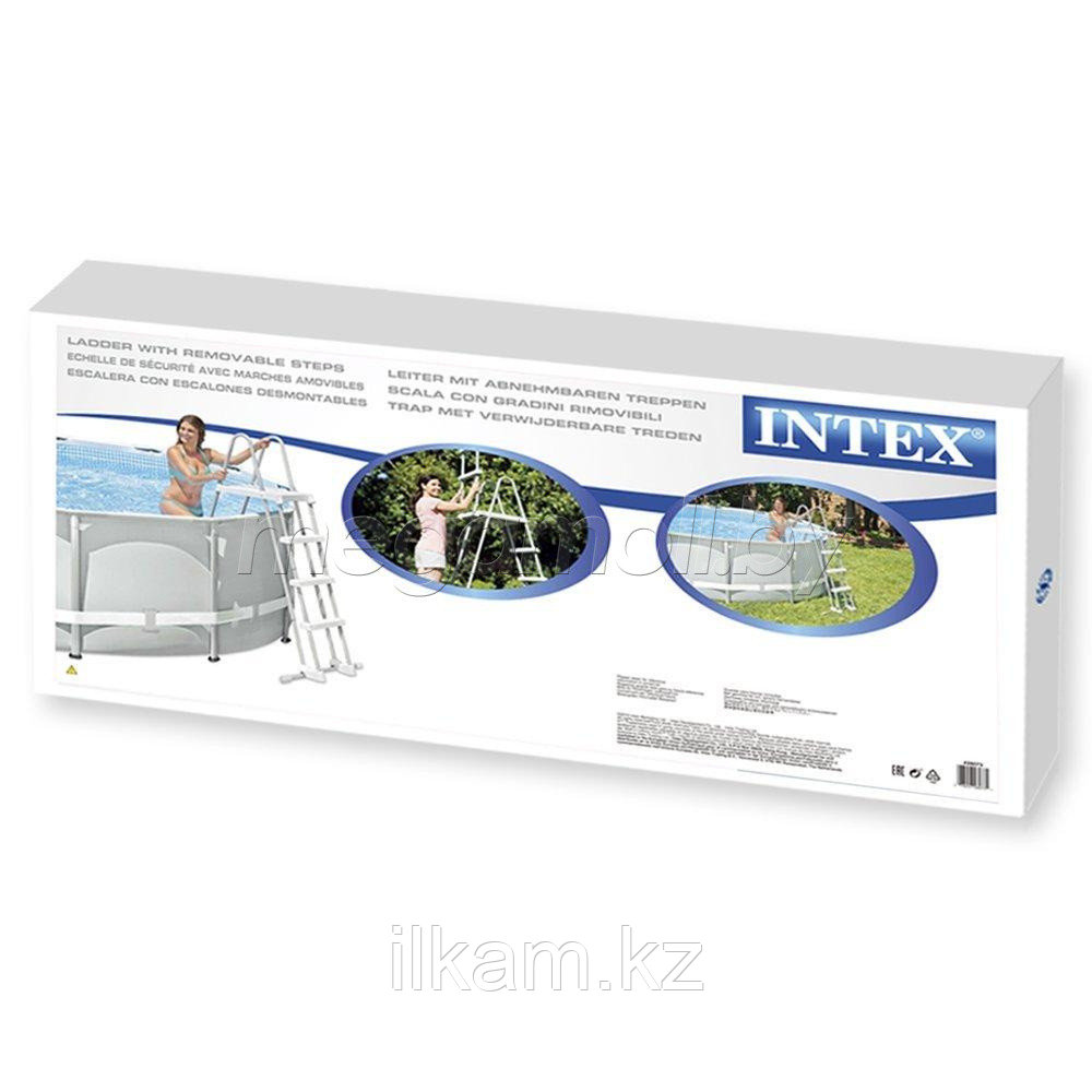 """Металлическая лестница, INTEX 28064, 28056"""", для каркасных и надувных бассейнов, высотой 91 см"""