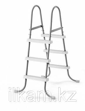 """Металлическая лестница, INTEX 28064, 28056"""", для каркасных и надувных бассейнов, высотой 91 см, фото 2"""