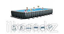 Прямоугольный каркасный бассейн, Ultra Frame Pool, Intex 26378NP, 26378, размер 975х488х132 см, фото 3