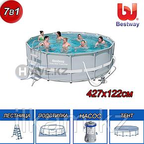 Круглый каркасный бассейн Bestway 56444, Power steel, размер 427x122 см, фото 2