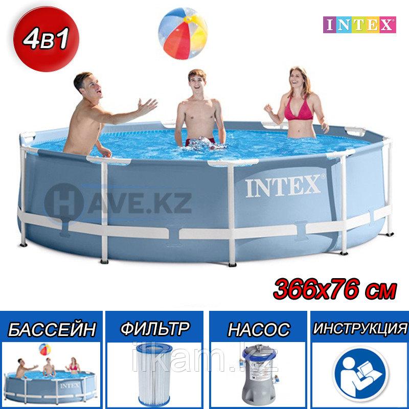 """Круглый каркасный бассейн Intex 26712NP, 26712, 28712 """"Easy Set"""" размер 3.66x76 см"""