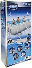 Прямоугольный каркасный бассейн, Power Steel Frame Pool, Bestway 56629, размер 282х196х84 см, фото 3