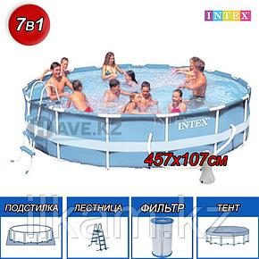 Круглый каркасный бассейн Intex размер 457х107 см, фото 2