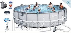 Круглый каркасный бассейн, Power Steel, Bestway 56427, размер 549х132 см, фото 2