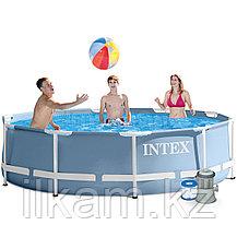 "Круглый каркасный бассейн Intex 26702NP, 28202, 28702, ""Metal Frame"" размер 305 x 76 см, фото 3"