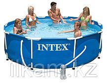 "Круглый каркасный бассейн Intex 26702NP, 28202, 28702, ""Metal Frame"" размер 305 x 76 см, фото 2"