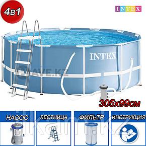 Круглый каркасный бассейн Intex 26706, Prism Frame, размер 305x99 см, фото 2