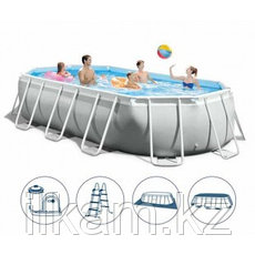 Овальный каркасный бассейн, Prism Frame Oval, Intex 26798NP, 26798, размер 610х305х122 см, фото 2