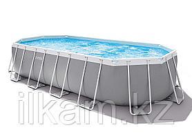 Овальный каркасный бассейн, Prism Frame Oval, Intex 26798NP, 26798, размер 610х305х122 см, фото 3