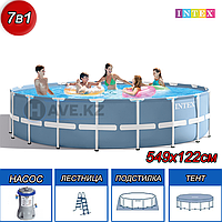 Круглый каркасный бассейн Intex 26732NP, 26732, Prism Frame Poo, размер 549x122 см
