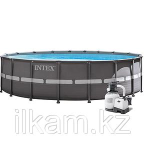 Круглый каркасный бассейн, Ultra XTR Frame, Intex 26334, размер 610х122 см, фото 2