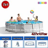 Круглый каркасный бассейн Intex 26720, Prism Frame, размер 427x107 см