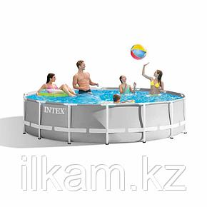 Круглый каркасный бассейн Intex 26720, Prism Frame, размер 427x107 см, фото 2