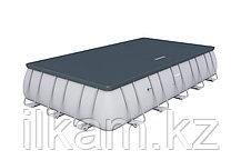 Каркасный бассейн Bestway 56471, Power Steel Rectangular, размер 671х366х132 см, фото 3