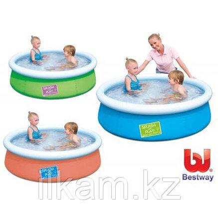 Детский круглый надувной бассейн, Fast Set Pool, Bestway 57241, размер 152х38 см, фото 2