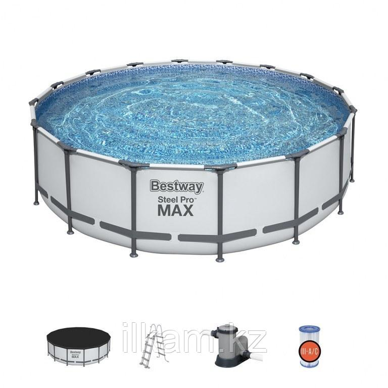 """Каркасный бассейн Bestway 5612z """"Steel Pro Max"""" размер 488х122 см"""