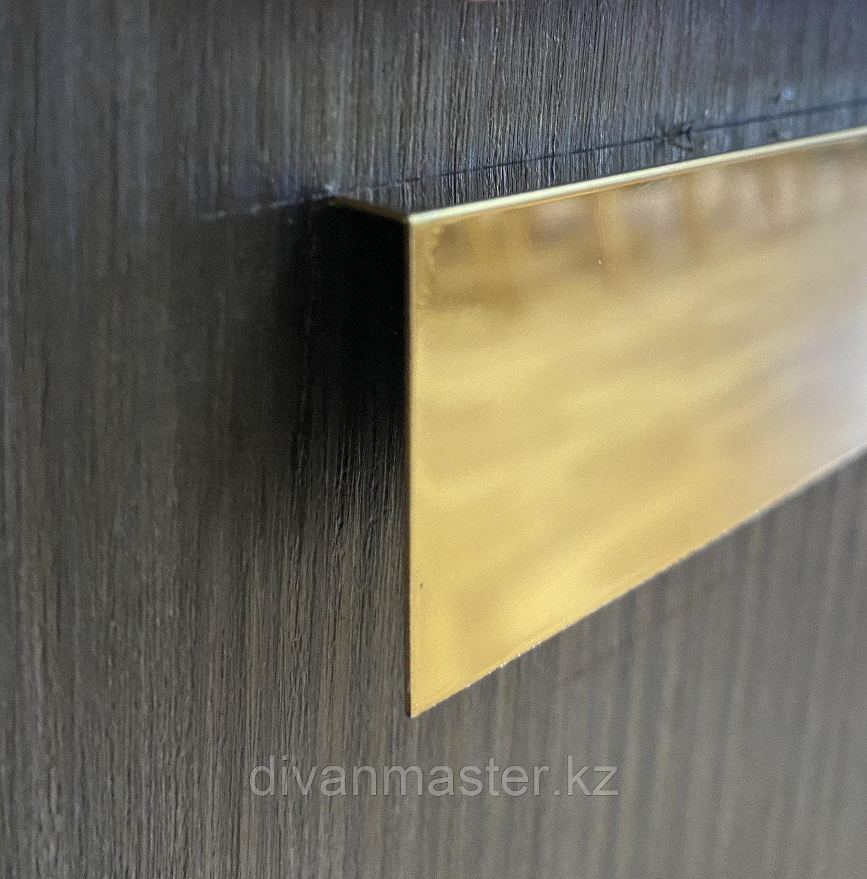 L-Профиль 11*70, зеркальное золото, для декорирования мебели, 305 см, L-образный