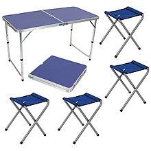 Комплект Ecos Пикник СНО-150-E стол + 4 стула синий
