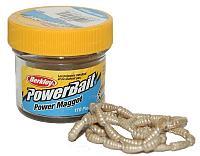 Мягкая приманка Berkley Power Bait Maggot (1079209-GR=Yellow Power Maggot (опарыш))
