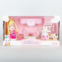 Dreamy: Игровой набор Зал, зайка, игрушечная мебель для гостинной, аксессуары