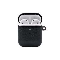 Unique design case for Apple AirPods, Кожаный черный