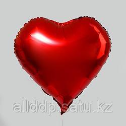"""Шар фольгированный 18"""" «Сердце», цвет красный"""
