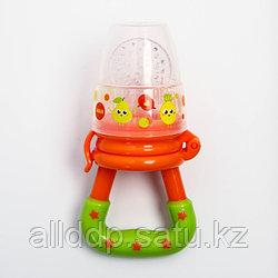 Ниблер «Чудо», с силиконовой сеточкой, цвет оранжевый «Наше счастье»