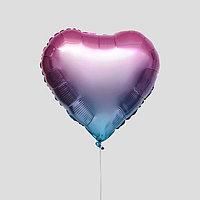 """Шар фольгированный 18"""" сердце, цвет розовый"""
