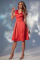 Женское летнее красное нарядное платье Golden Valley 4712 красный 48р.