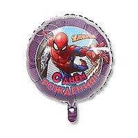 """Шар фольгированный 18"""" «С днём рождения! Человек-паук», 1 шт."""
