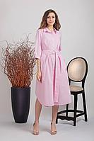 Женское летнее хлопковое розовое платье Achosa 2009 розовый 42р.