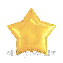 """Шар фольгированный 21"""", звезда, цвет светлое золото"""