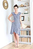 Женское летнее хлопковое синее платье Juliet Style Д207 44р.