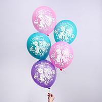 """Воздушные шары «С Днем Рождения», Холодное сердце, 5 шт., 12"""""""