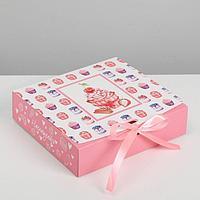 Складная коробка подарочная «Наслаждайся», 20 х 18 х 5 см