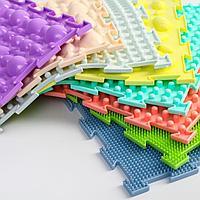 Модульный коврик Орто Набор «Универсал пастель», (камни-2, трава-2, шипы-1, елочка-2, шишки-1)