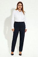 Женские осенние синие деловые большого размера брюки Панда 17260z синий 48р.