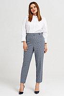 Женские осенние серые деловые большого размера брюки Панда 36860z серо-голубой 60р.