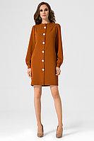 Женское летнее коричневое платье Панда 10380z горчичный 42р.