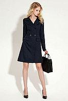 Женское осеннее синее деловое платье Панда 11380z синий 40р.