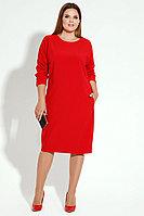 Женское летнее красное большого размера платье Панда 13880z красный 52р.