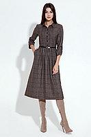 Женское осеннее коричневое платье Панда 15880z коричневый 42р.
