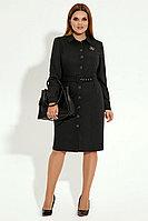 Женское осеннее серое нарядное большого размера платье Панда 17180z темно-серый 48р.