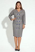 Женское осеннее серое нарядное платье Панда 17480z мультиколор 46р.