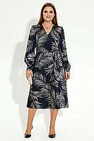 Женское осеннее синее нарядное платье Панда 17680z мультиколор 46р.