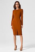 Женское осеннее коричневое нарядное платье Панда 18380z горчичный 42р.